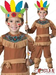 Indian Boy Toddler Costume Native American Child Dress Halloween Party Outfit