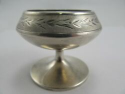 Coin Silver Vintage Footed Salt Cellar 55 Nicely Tooled V Good Cond Fine Mono