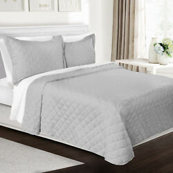 Quilt Set With Shams - All Season Bedspread Coverlet