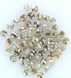 Natural Loose Diamond Round Fancy Mix Brown Color I1 I2 Clarity 1.00 Ct Lot K8