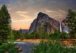 Yosemite Mountains Nature Color Wall Sticker Wall Mural Print 6 Feet Wide