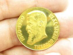 Theodor Herzl 1860-1960 And 12 Tribes 1948 .900 Gold Vintage Rare Bullion Coin