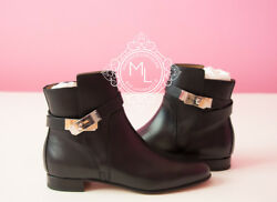 New Hermes 30off Black Neo Kelly Boots Sneaker Womens 37 / 7 Loafer Shoes Boot