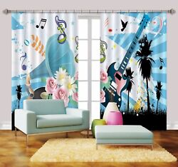3d Guitar Paint 767 Blockout Photo Print Curtains Drapes Fabric Window Us Carly