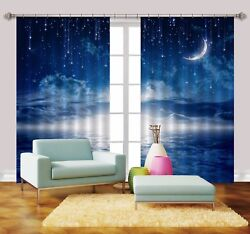 3d Moon Stars 766 Blockout Photo Print Curtains Drapes Fabric Window Us Carly