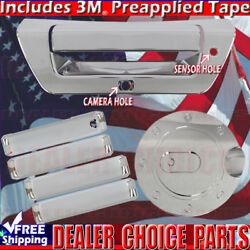 2015 2016 2017 Ford F150 Chrome Door Handle Covers+gas+tailgate No Smart Keyhole