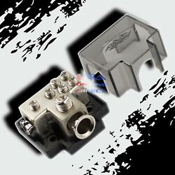Platinum Power Ground Distribution Block 1/0 Or 2 In And One 4 And Four 8 Gauge Out