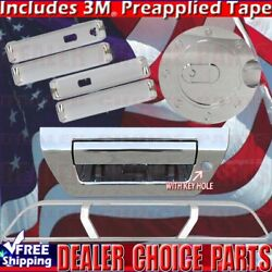 2015-2018 Ford F150 Chrome Door Handle Covers+tailgate+gas+brakelight Smrtknocam