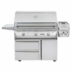 Twin Eagles 42-Inch Propane Gas Grill On Cart With 13-Inch Double Side Burners