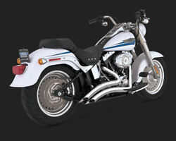 Vance And Hines Chrome Big Radius 2-into-2 Exhaust 1986-2011 Harley Softail Pipes