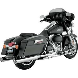 New Vance And Hines Vance And Hines Monster Round Slip-ons Chrome 16773