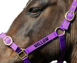Personalised Embroidered Headcollar All Size & Colours  *SALE PRICES FROM £5.25*
