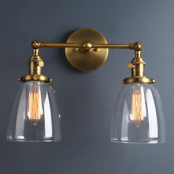 5.7 Retro Sconce Wall Light W/twins Cloche Shades Filament Vintage Wall Lamp