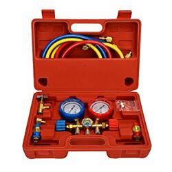 Mofeez Pro AC AC Diagnostic Manifold Freon Gauge Set For R134A R12 R22 Refriger