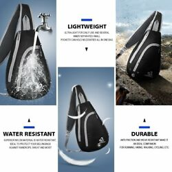 Black Chest Shoulder Bags Sling Cross Body Bag For Men Camping Travel Outdoor