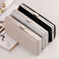 Women Lady Luxury Evening Clutch Bags Wedding Party Purse Handbags with Chain $18.99