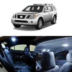 14 X White Led Interior Light Package For 2005 - 2012 Nissan Pathfinder + Tool