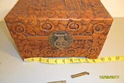 Yu Ting Good Luck Chest Antique Wooden Hand Carved Locking Hong Kong