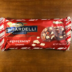 4 Bags Ghirardelli Chocolate Peppermint Baking Chunks 10 Ounces oz Each