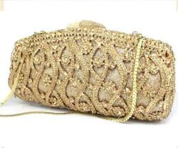 Bling Bling Rhinestones Beaded Women Wedding Party Prom Evening Clutch Bag Purse