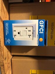 40pc 20a Gfci Outlet Receptacle White W/ Led Light + Wallplate Ul|us