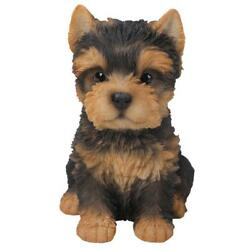 Adorable Seated Yorkshire Terrier Puppy Yorkie Figurine