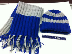 Hand Knitted, Harry Potter House Ravenclaw And/or Gryffindor Scarf And Hat Set