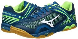 New Mizuno Table Tennis Shoes Wave Medal Z 81ga1710 Navy Green From Japan