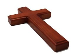 Simple and Elegant 8 Inch Wooden Wood Wall Cross for Church or Home Type S $35.00
