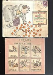 1930's Hand Drawn Cover By Artist Bob Seims Of Brooklyn Ny Political Etc Insert