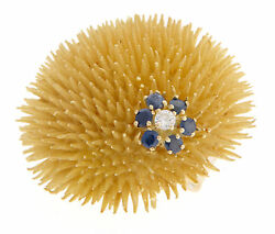 Tiffany & Co. 18K Yellow Gold Anemone Pin Circa 1960's RARE RETIRED