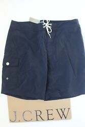 Nwt J Crew 9 Solid Board Short In Navy Sz 34 A0659