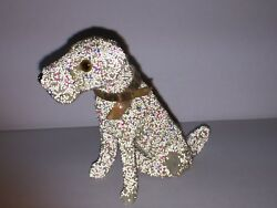 Early Miniature Terrier Dog with Glass Bead Glitter amp; Glass Eyes Germany