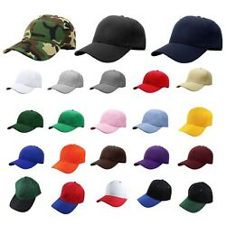 Plain Blank Solid Adjustable Baseball Cap Hats (ship in BOX!)  $5.25