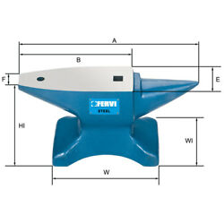 ANVIL STEEL HARDENED C50 FERVI 015766.1lbs