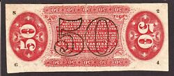 Us 50c Fractional Currency Note Inverted Back Error Fr 1357 Vf-xf