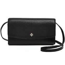 NEW TORY BURCH (39009) ROBINSON PEBBLED LEATHER MINI FLAP WALLET CROSSBODY BAG