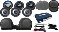 Hogtunes Amp And 6 Speaker Kit For Twin Cooled 2014-2017 Harley Touring Models