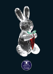 [special Offer] Bunny Eating Carrot Austrian Crystal Figurine Was Au58.00