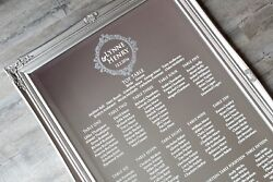 Wedding Mirror Table Plan Vinyl Stickers /circle Element/ Instructions And Tools