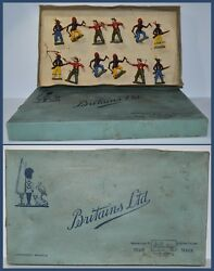 Britains Set 6a Cowboys And North American Indians On Foot Aa-11412/s4