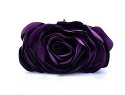 Purses Purple Clutch Bridesmaids Evening Purse Purple Floral Handbags for Women