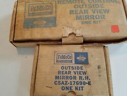 Nos 1965 1966 Ford Outside Rear View Side Mirrors Original Pair Left Remote