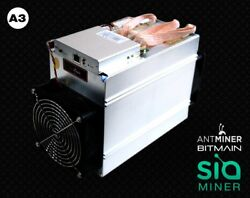 In HAND antmain Antminer A3 Blake2b 815GHs Miner ASIC Siacoin - Mines $400
