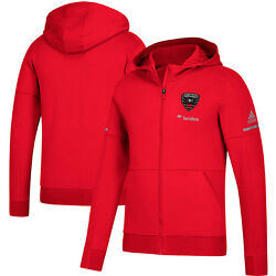 Adidas Dc United Mls 2018 Limited Edition Zone Zne Hooded Soccer Jacket Red