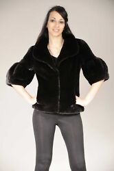 Brand New Short Mink Jacket With Bubble Shaped Sleeves Short Or Long Blackglama