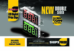 24 inch Double sided Led Digital Gas price sign with led lit description  (LDPS)