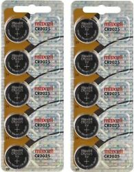 Lot 10 x Genuine Maxell CR2025 CR 2025 3V LITHIUM BATTERY Made in Japan BR2025