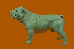 Vintage Miniature Bronze French Bulldog Signed Milo 3