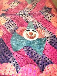 Circus Clown Sequined Elephant Performance Blanket And Heaadpiece Ci-1